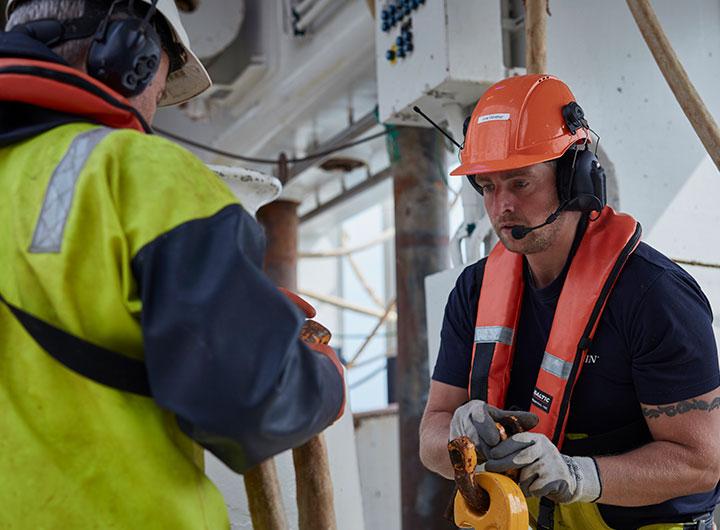 Arbejde ombord på fartøjet